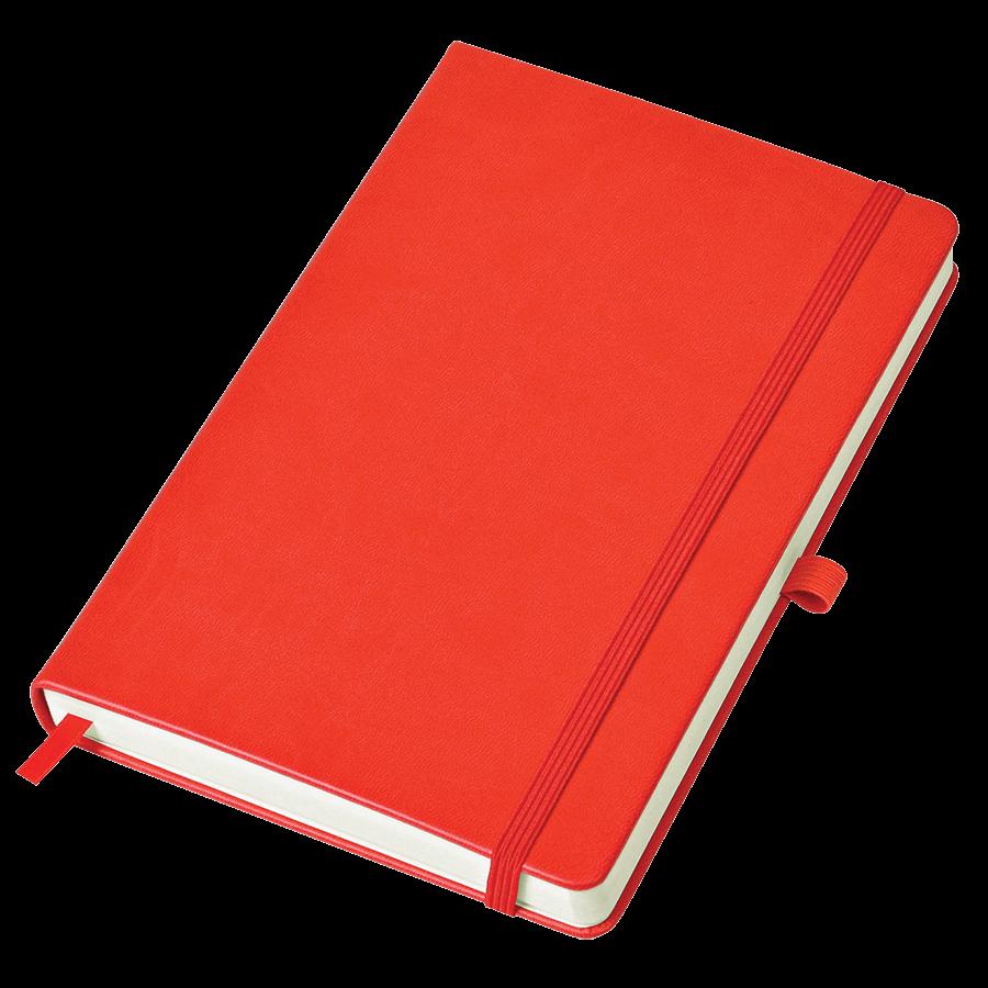 Красный бизнес-блокнот Justy А5