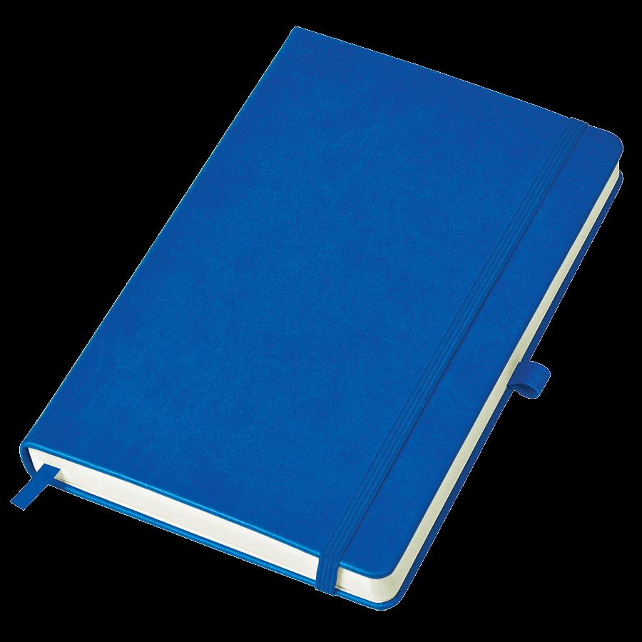 Синий бизнес-блокнот Justy А5