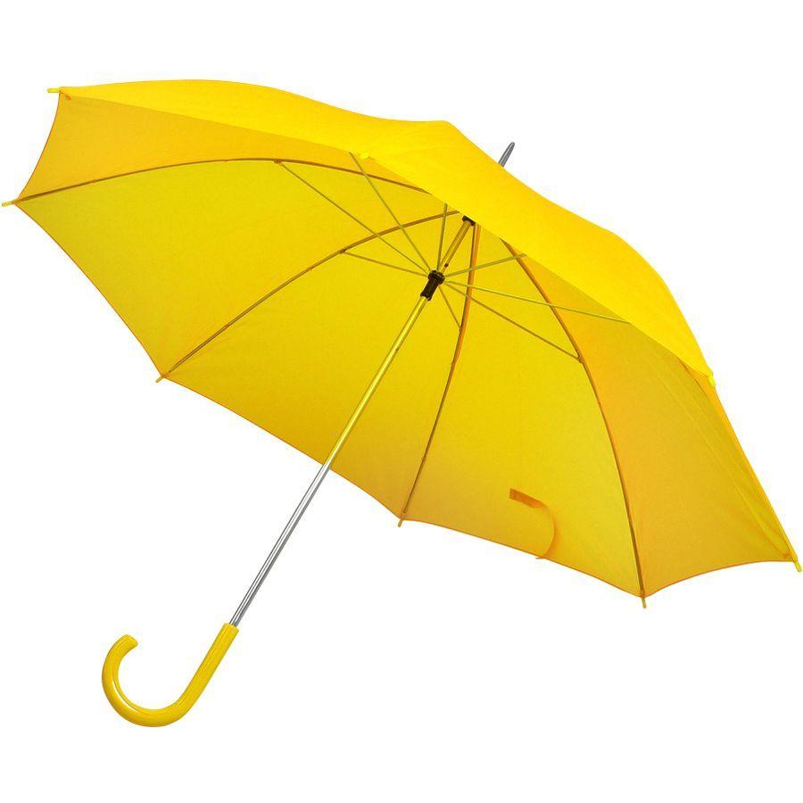 Зонт-трость желтый