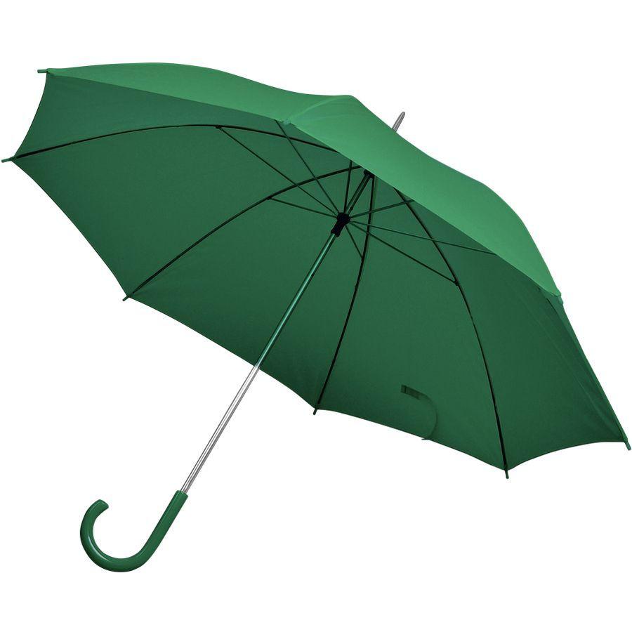 Зонт-трость зеленый