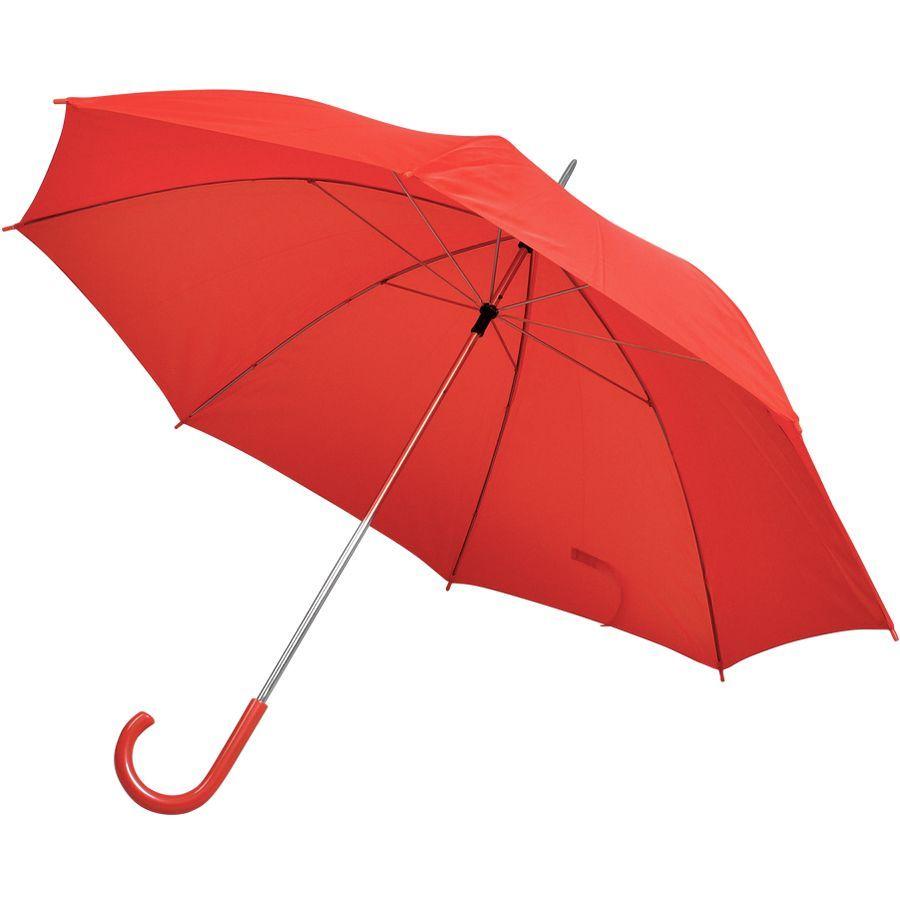Зонт-трость красный